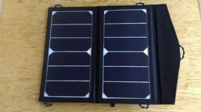 FOLDING FLEXIBLE SOLAR PANEL CHARGER BAG FOR MOBILE PHONES 12W WITH USB